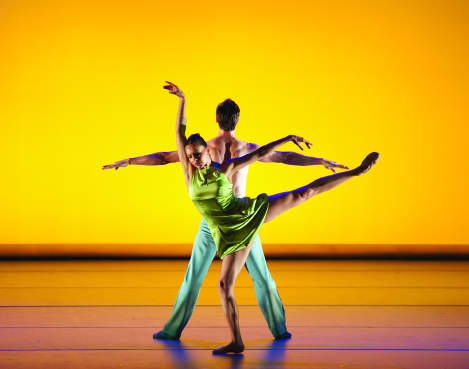 """Clockwise: """"Over Glow,""""  Aspen Santa Fe Ballet, choreographed by Jorma Elo; Laguna Dance Festival founder and artistic director Jodie Gates; master class taught by Complexions Contemporary Ballet co-founder  Desmond Richardson."""