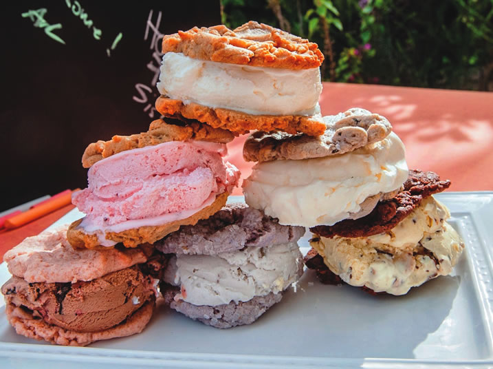 Handcrafted ice cream sandwiches from Chunk-n-Chip incorporate only simple, natural ingredients.
