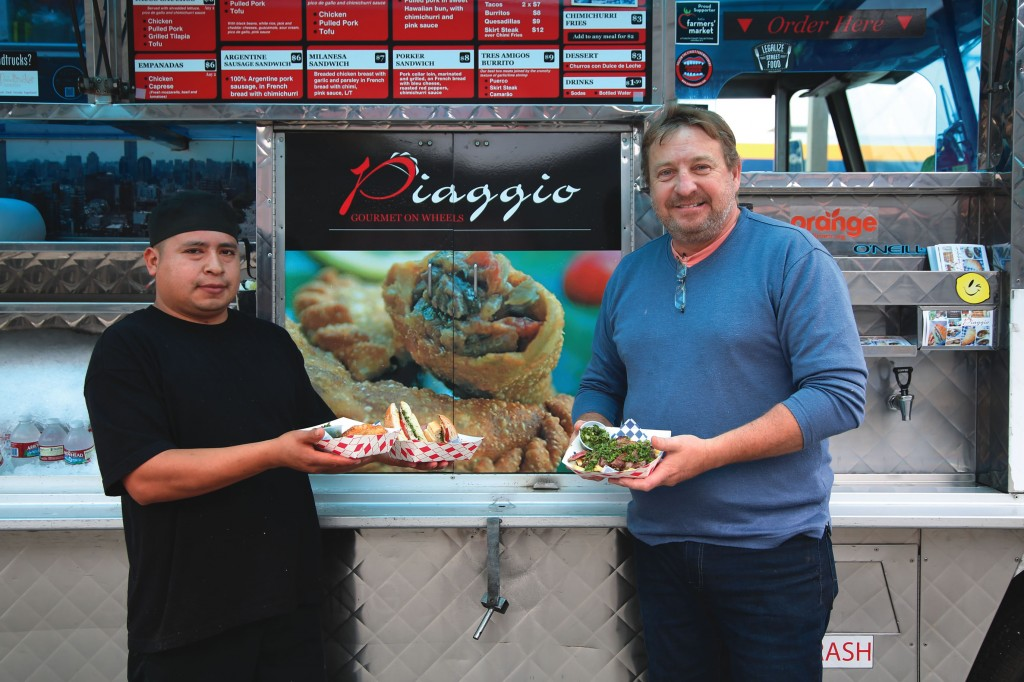 Chef Jose Ignacio Piaggio (right) shuttered his brick-and-mortar storefront in favor of a truck in 2009.