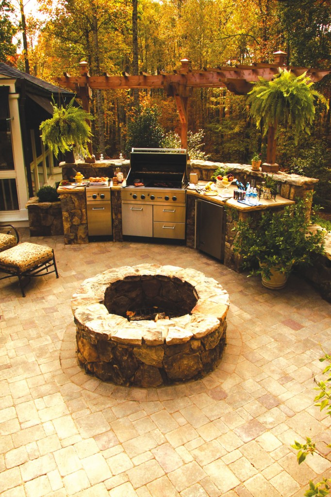Outdoor entertaining is enhanced when elements of the kitchen are brought from the indoors out.
