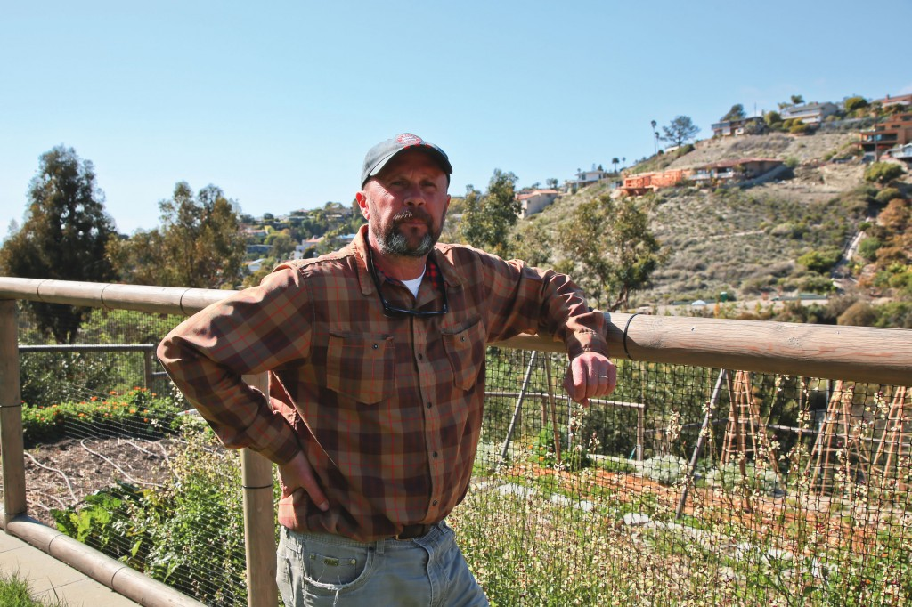 Scott Tenney, owner of Bluebird Canyon Farms, has built a thriving agricultural site in Laguna Beach.