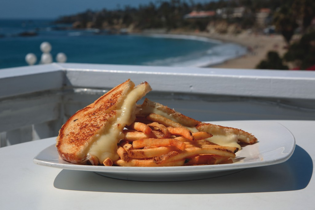 The grilled cheese made with oozing white cheddar begs to be devoured at The Cliff Restaurant.