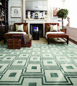 Aman & Carson Nepalese wool and silk rug, from $12,500, at Stark, SoCo, Costa Mesa (714-434-0630; starkcarpet.com)