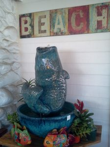 Fish fountain (in house order) - Laguna Coast Pottery