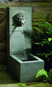 Madison Square and Garden Cafe - Lion Element Fountain
