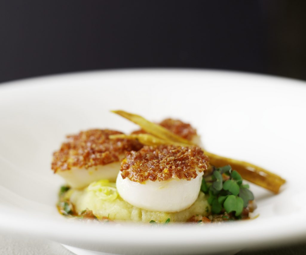 Chourico Crusted Scallops