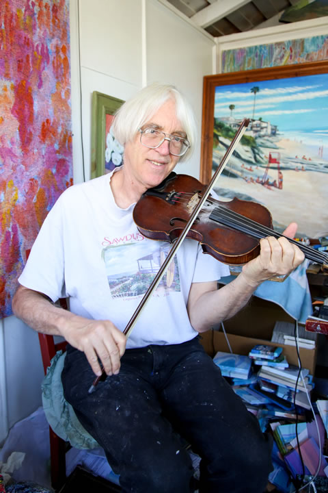 An accomplished violinist, Doug currently plays in a five-member band that is releasing its first CD in April.