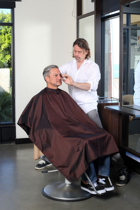 "Serandi Salon owner Sergio Andrioli recommends trims every four weeks to maintain the ""disconnected"" haircut. 
