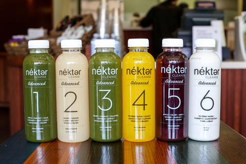 Designed to flush toxins, this Nekter cleanse is a blend of roughly 15 pounds of fruits and vegetables.