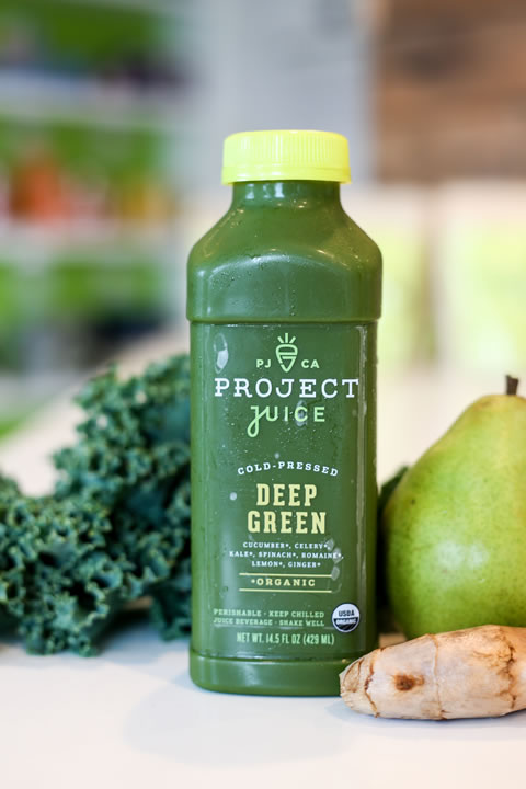 Project Juice's Deep Green is high in vitamins A and C.