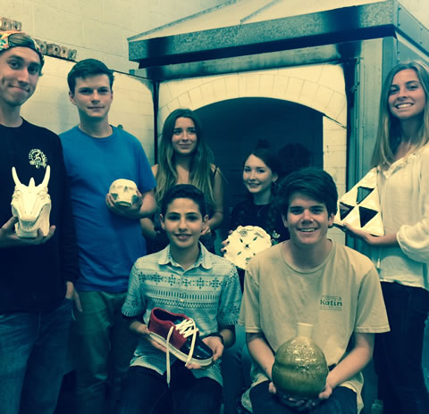 Laguna Beach High School AP ceramics students