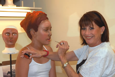 Judy Flanders has applied makeup on pageant cast members for more than 20 years.