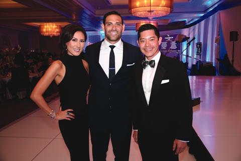 Lauren Wong, Mark Sanchez, Michael Wong   Photo by Xuong Do, Happy Photos