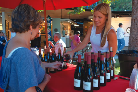 Art, Jazz, Wine and Chocolate events indulge the palate on Thursday evenings at Festival of Arts.