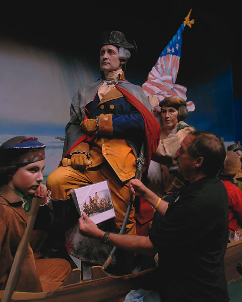 """Ken Bisconti played George Washington in  """"Washington Crossing the Delaware"""" during the 2014 pageant."""