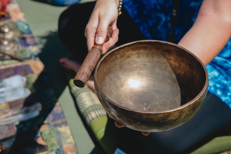 Meditation bowls create soothing sounds. | Photo by Jody Tiongco
