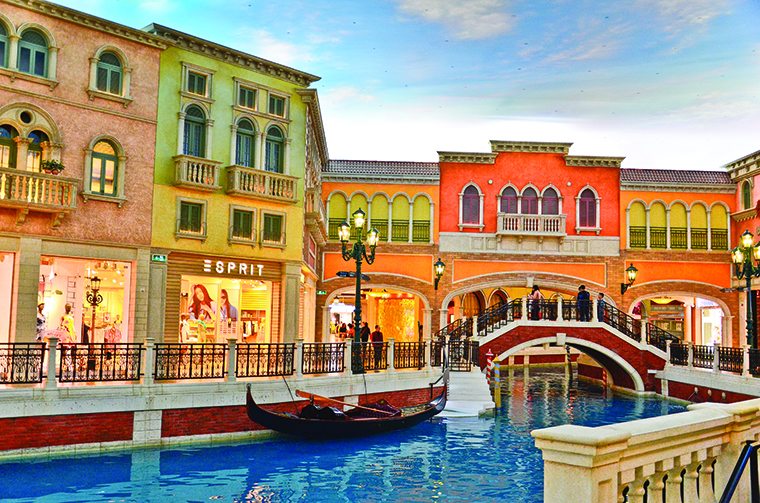 The Shoppes at Venetian, a near replica of the shops in Vegas | Photo by cesc assawin/shutterstock